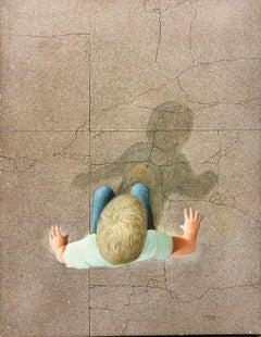Figure of a Boy Walking, Ancel Nunn, Egg Tempera Realism