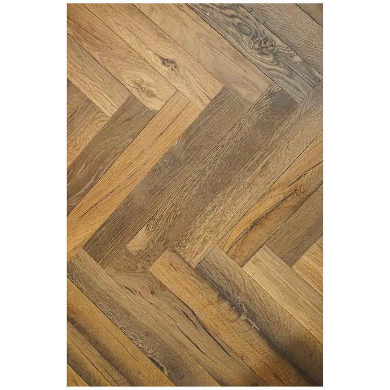 Ancient '2300 Years Old' European Hardwood Parquet Flooring For Sale