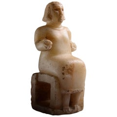Ancient Alabaster Statuette from South Arabia, 250 BC