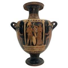 19th Century Grand Tour style Red-Figure Greek Hydria Pottery