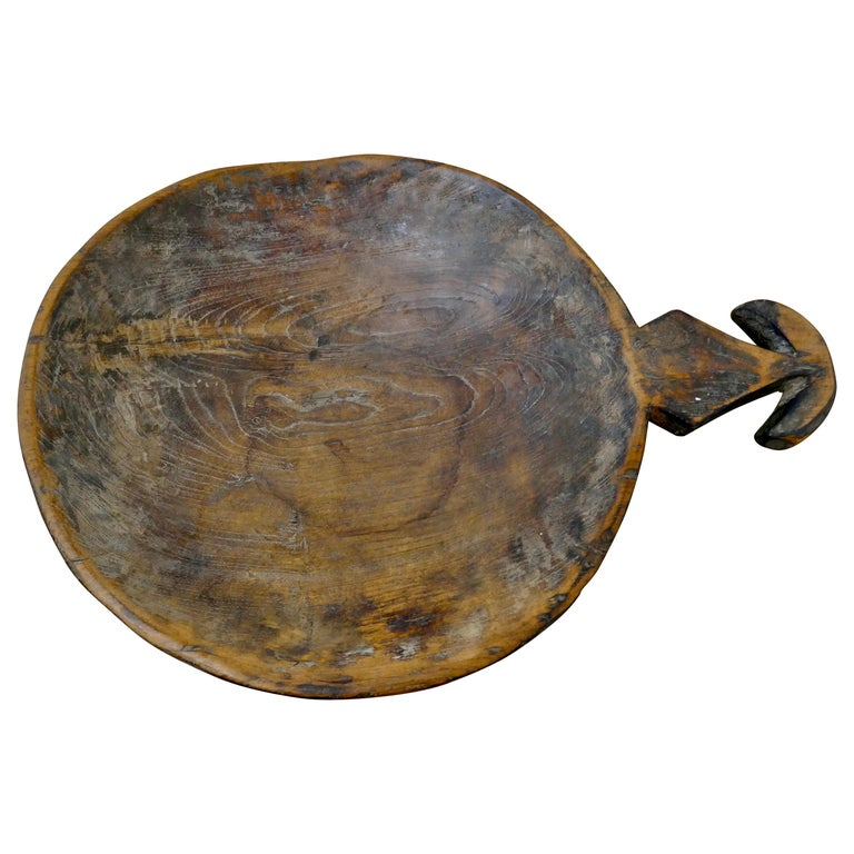 Ancient Asian Grain Scoop Bowl For Sale