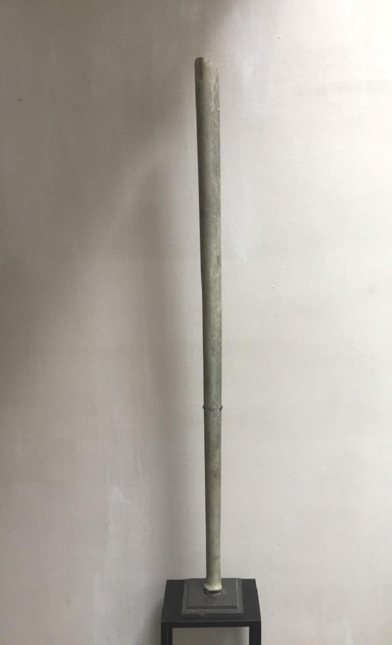 A large Bactrian marble staff circa late 3rd-2nd millennium BCE. The Bactrian culture was discovered by Soviet archeologists in the 1970s in Afghanistan. Also called the Oxus culture it was dated between 2300-1700 BCE. This civilization prospered in