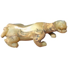 Ancient China Mythical Jade 'Winged Lion', Han Dynasty, 200 AD