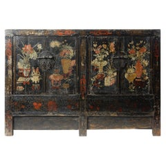 Ancient Chinese Apothecary Lacquered Cabinet Sideboard