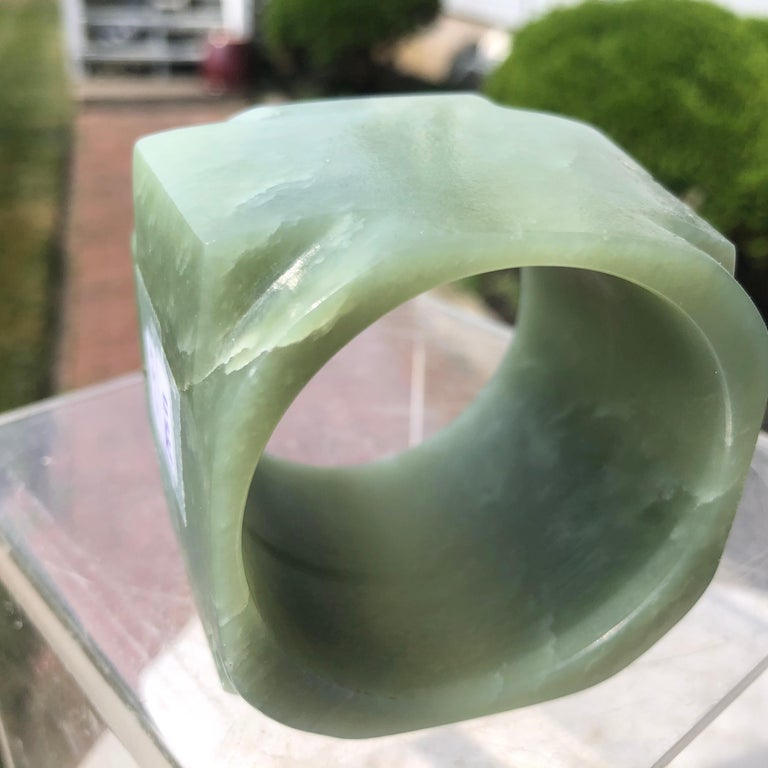 Ancient Chinese Heavenly Jade Tube Cong For Sale 1