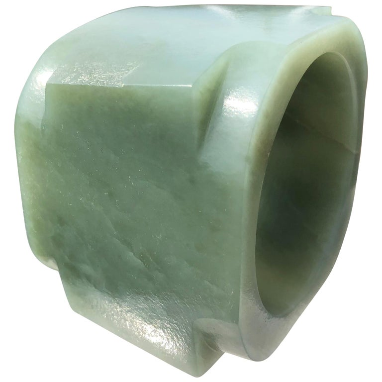 Ancient Chinese Heavenly Jade Tube Cong For Sale