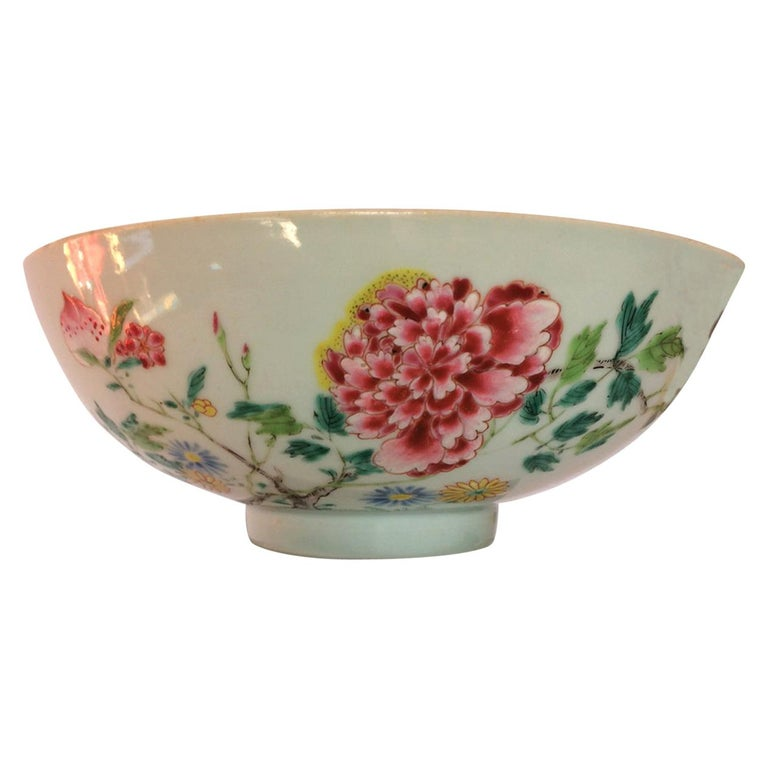 Ancient Chinese Imperial Porcelain Bowl, Qing Dynasty, 18th Century For Sale