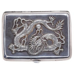 Ancient Chinese Silver Good Luck Box, Early 20th Century