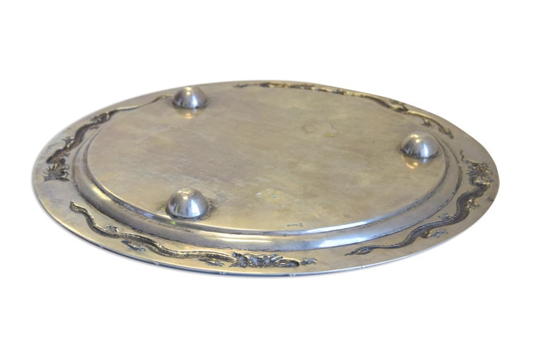 Ancient Chinese Silver Tray, 19th Century For Sale 2