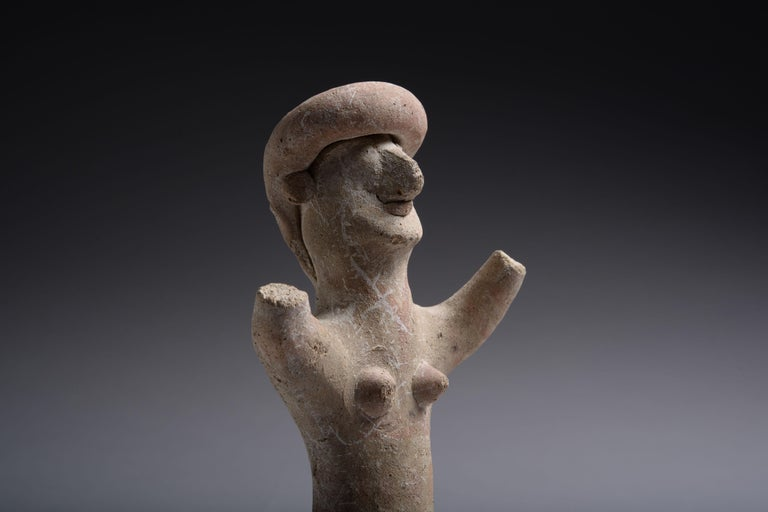 18th Century and Earlier Ancient Cypriot Terracotta Goddess, 7th Century BC For Sale