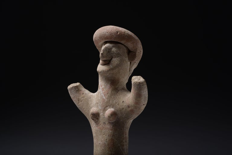 Pottery Ancient Cypriot Terracotta Goddess, 7th Century BC For Sale