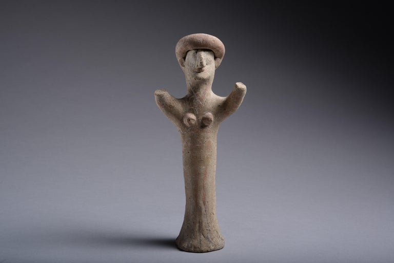 Ancient Cypriot Terracotta Goddess, 7th Century BC For Sale 1