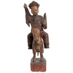 Ancient Deity on Horse, Qing Dynasty, China