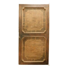 Ancient Door Covered in Canvas on Wood, Brown with Panels, 18th Century, Italy