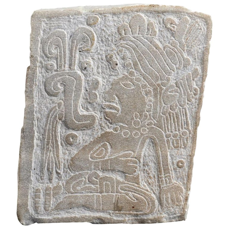 Ancient Engraven Stone Slab Olmec-Style, Mexico For Sale
