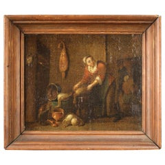 Ancient Flemish Painting from the 17th Century