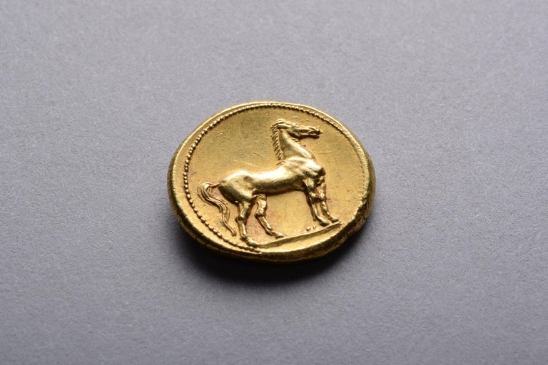 Ancient Gold Punic Coin from Carthage, 310 BC In Excellent Condition For Sale In London, GB