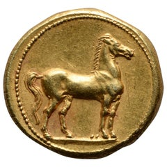 Ancient Gold Punic Coin from Carthage, 310 BC