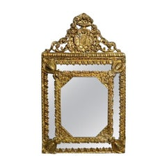 Ancient Golden Brass Mirror