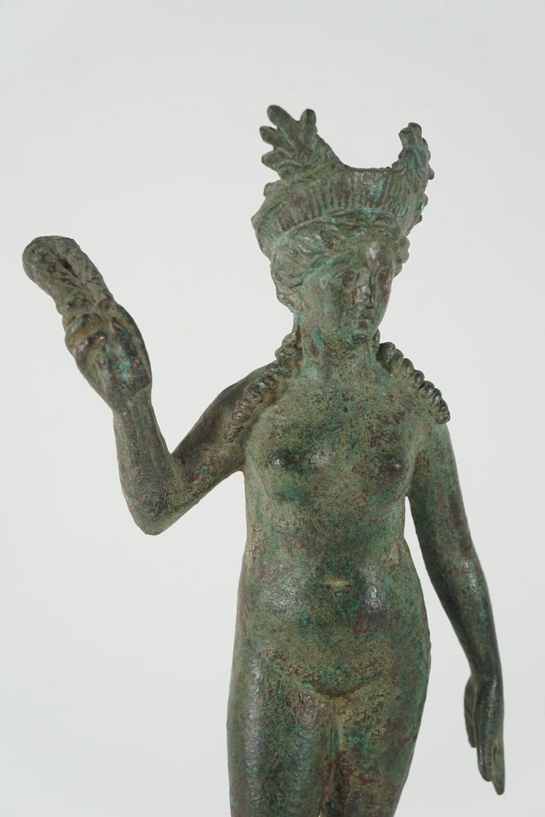 Greco Roman Ancient Grecco-Roman Bronze Figure of Isis/ Aphrodite from Second Century B C For Sale