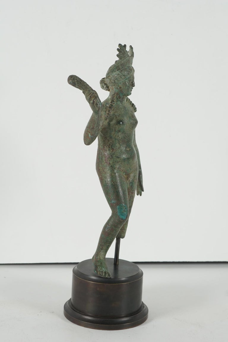 Ancient Grecco-Roman Bronze Figure of Isis/ Aphrodite from Second Century B C For Sale 1