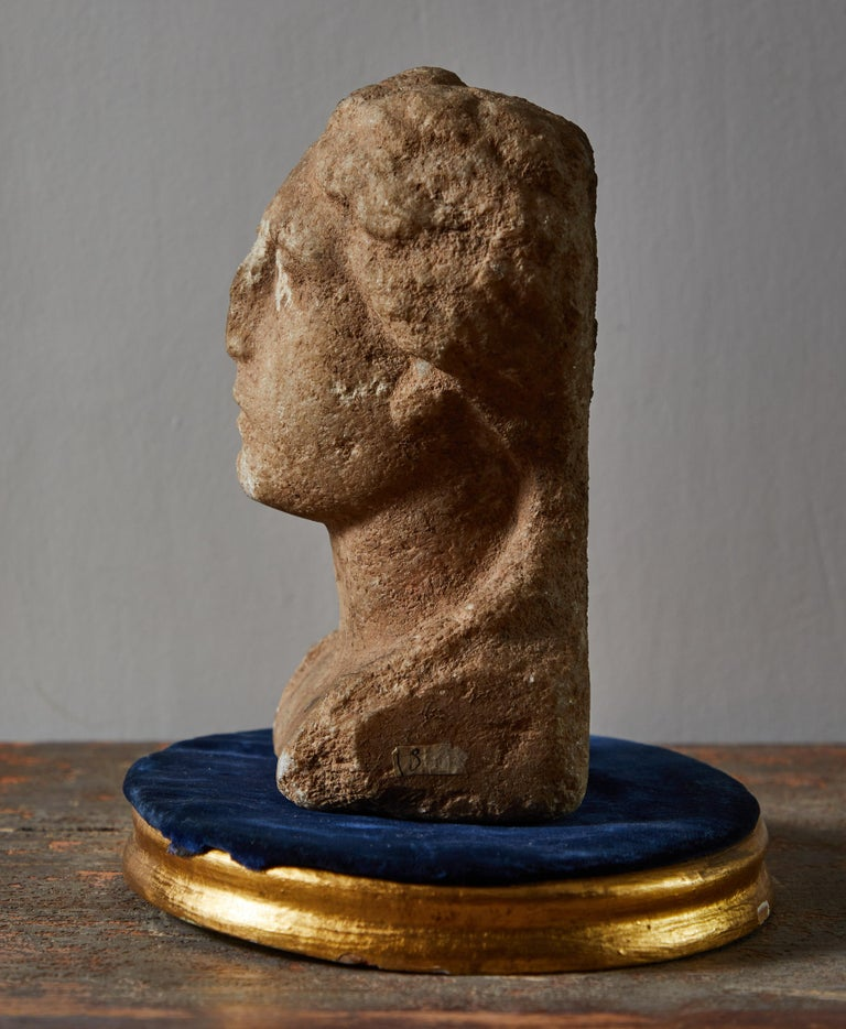 Ancient Grecian Bust In Good Condition For Sale In Los Angeles, CA
