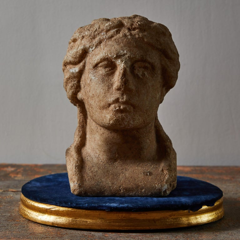 Limestone Ancient Grecian Bust For Sale