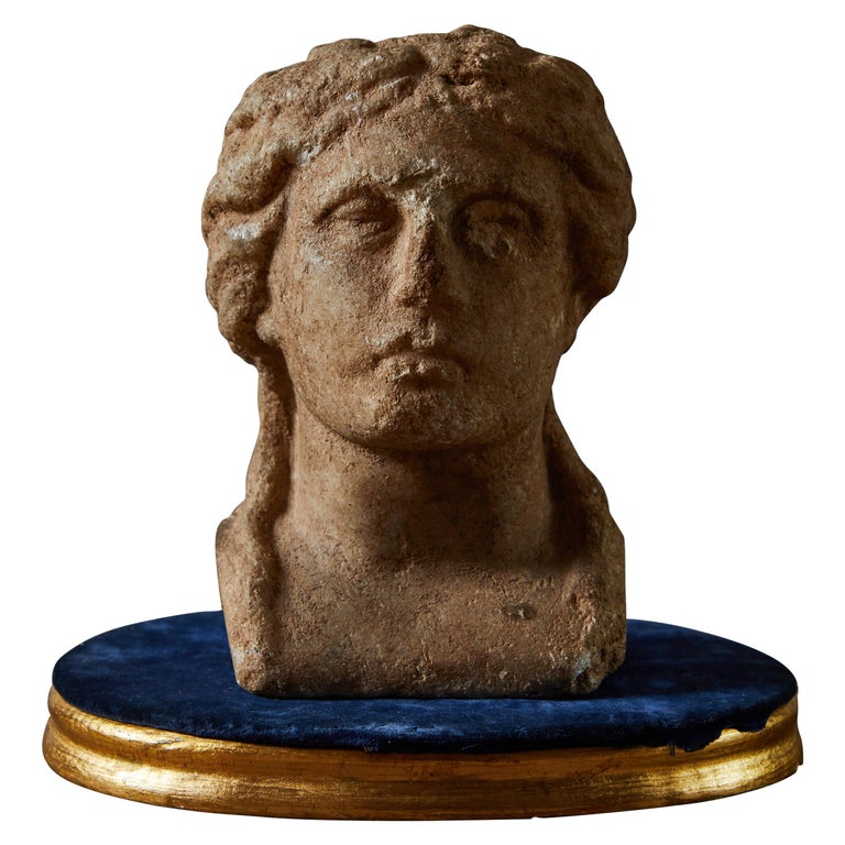 Ancient Grecian Bust For Sale