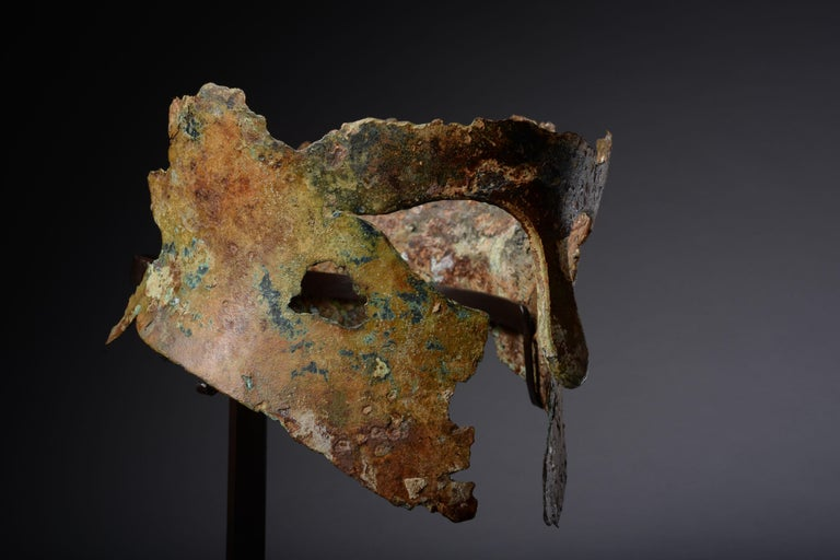 18th Century and Earlier Ancient Greek Bronze Corinthian Helmet, 6th Century BC For Sale