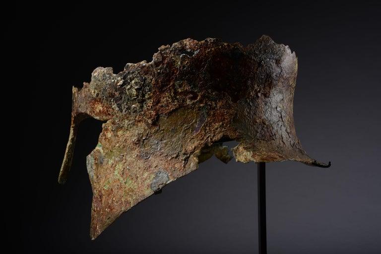 Ancient Greek Bronze Corinthian Helmet, 6th Century BC For Sale 2