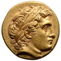 Ancient Greek Gold Stater Coin of Alexander the Great, 322 BC