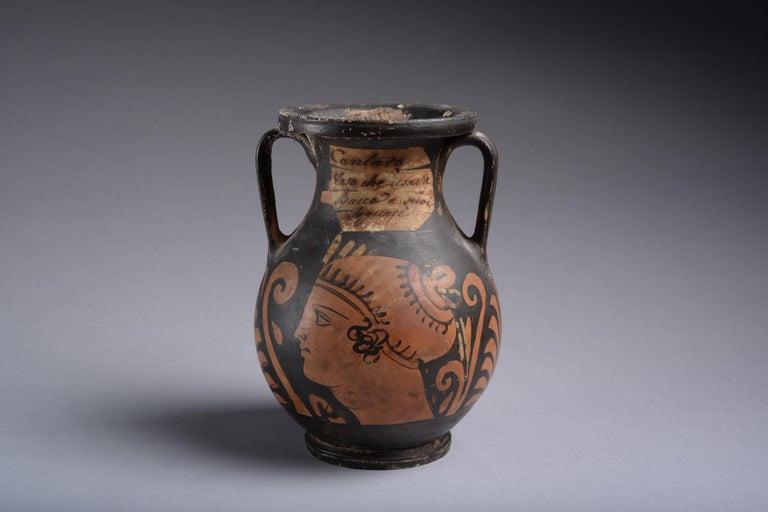 Italian Ancient Greek Red Figure Pelike Vase, 350 BC For Sale