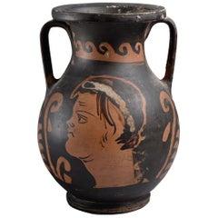 Ancient Greek Red Figure Pelike Vase, 350 BC