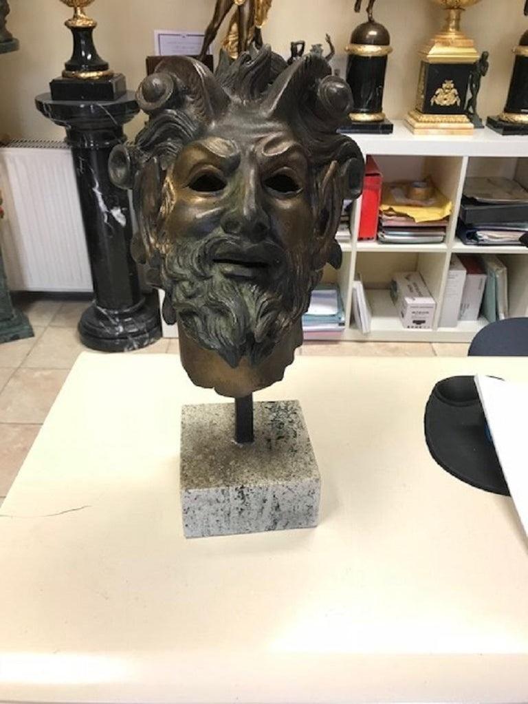 Contemporary Testa Di Fauno Statue For Sale
