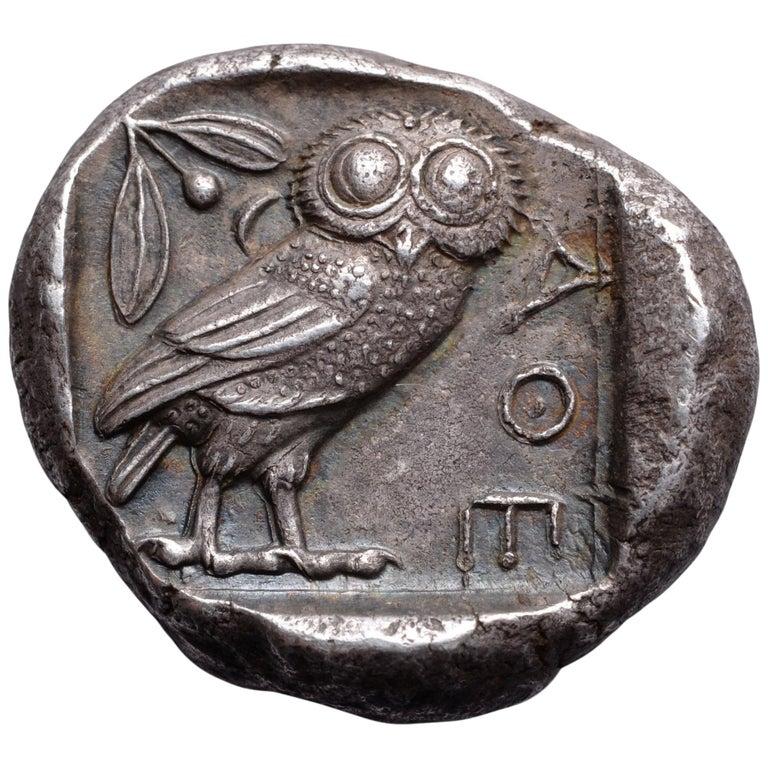 owl coin athens