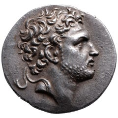Ancient Greek Silver Tetradrachm Coin of King Perseus, 174 BC