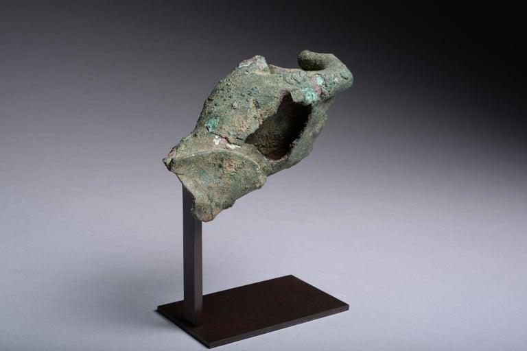 Ancient Hellenistic, Roman Bronze Statue Fragment, 100 BC For Sale 2