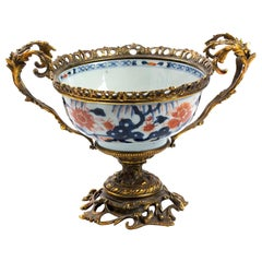 Ancient Imari Porcelain Bowl, Japan, 18th Century