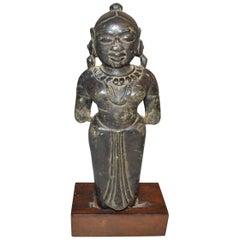 Ancient Indian Stone Hindu Female Goddess Figure, circa 16th Century