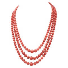 Ancient Italian Coral Necklace