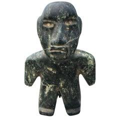 Ancient Jade Pre Columbian Figure Supernatural Human, 1000-400 BC