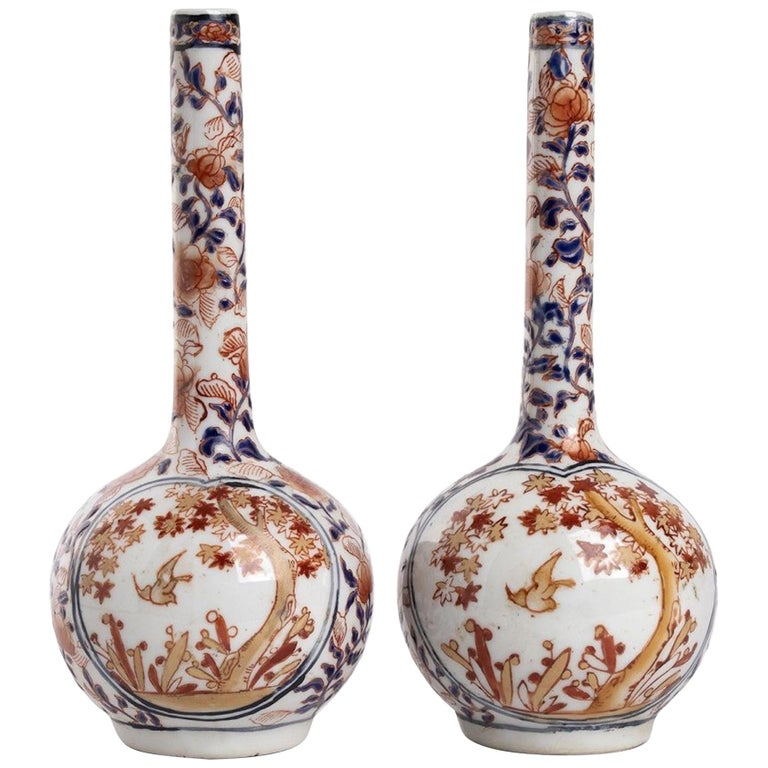 Ancient Japanese Imari Bottles, Early 10th Century For Sale