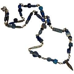 Ancient Lapis Bead Necklace