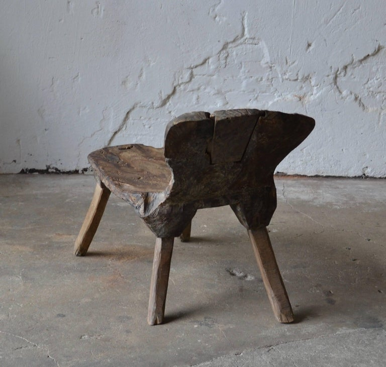 Ancient Monastery Wabi-Sabi Meditation Chair For Sale At