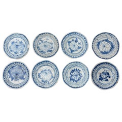 Ancient Oriental Plates Set, China, 19th Century