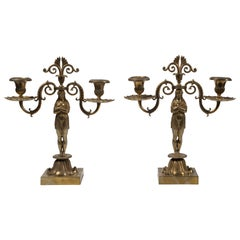 Ancient Pair of Candleholder, French Manufacture 19th Century