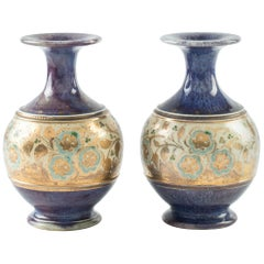 Ancient Pair of Royal Doulton Vases, End of 19th Century