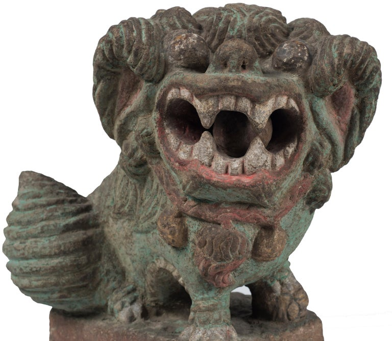 Ancient Pho Dog Sculpture, Chinese Manufacture, 19th Century For Sale 1