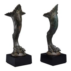 Ancient Roman Bronze Griffin Feet - 100 AD