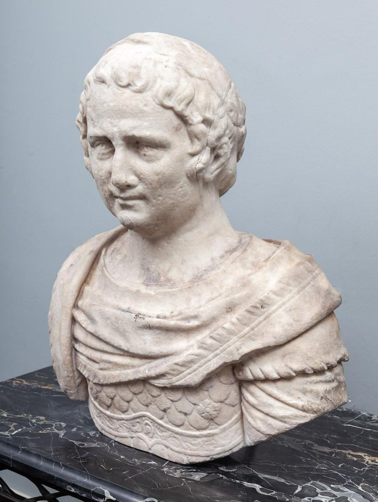 Classical Roman Ancient Roman Bust For Sale